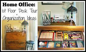 Small Desk Organization Ideas Home Office 1st Floor Desk Tour U0026 Organization Ideas Youtube