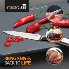 kitchencraft masterclass combination whetstone knife sharpener 18
