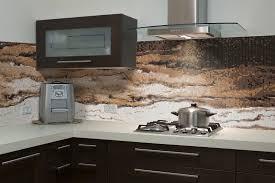 cozy mosaic kitchen tile backsplash design with wooden cabinet