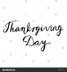 thanksgiving day sale thanksgiving day hand drawn lettering card stock vector 465236786