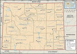 Map Of Florida Cities And Towns by State And County Maps Of Wyoming