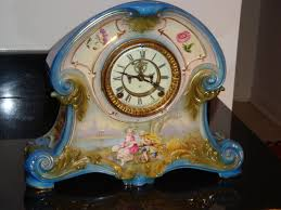 Ansonia Mantel Clock Ansonia Porcelain Clock Royal Bonn Case Collectors Weekly