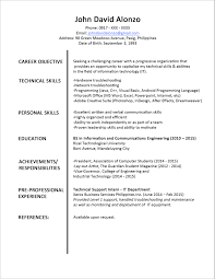 Cosmetologist Resume Objective Resume Objective Information Technology Resume For Your Job
