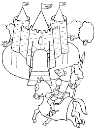 knights and medieval coloring pages u2013 barriee
