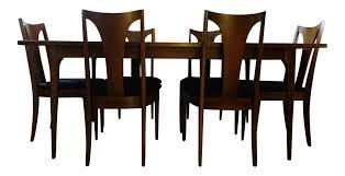 Mid Century Modern Dining Room Tables Mid Century Modern Broyhill Brasilia Sculpted Walnut Dining Room