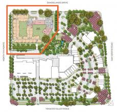 residential site plan viamonte senior living