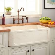 Granite  Marble Stone Farmhouse Sinks Signature Hardware - Marble kitchen sinks