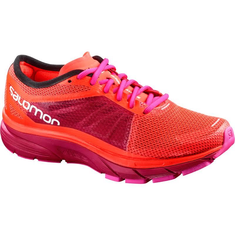 Salomon Sonic RA Road Running Shoe Fiery Coral/Cerise/Pink Glo 8 US Regular L40243500-8