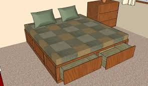 Platform Storage Bed Plans With Drawers by How To Build A Storage Bed Frame Howtospecialist How To Build