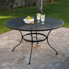 Cast Iron Patio Set Table Chairs Garden Furniture - belham living stanton wrought iron dining set by woodard seats 6