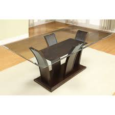 Glass Rectangle Dining Table Furniture Of America Manhattan I Rectangular Dining Table The Mine
