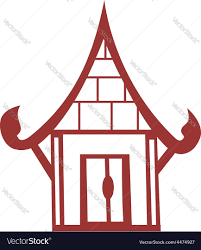 chinese house royalty free vector image vectorstock
