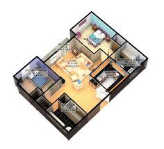 10 25 more 3 bedroom 3d floor plans simple free house plan maker l