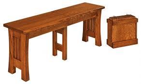 arts u0026 crafts trestle bench wparts u0026craftsbench westchester woods