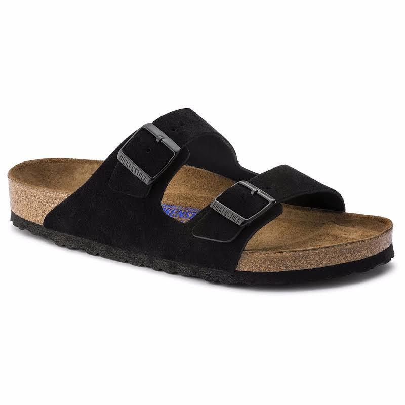 Birkenstock Arizona Soft Footbed Black Suede (Narrow Width)
