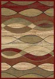 Green And Beige Rug 5x8 Area Rug Rugs New Modern Abstract Wavy Waves Red Black Beige