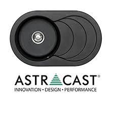 Astracast Cascade  Bowl Asterite Granite Italian Black Kitchen - Italian kitchen sinks