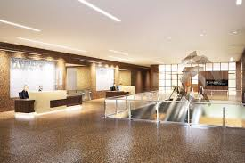 Interior Designers In Houston Tx by Marathon Oil Tower Lobby Walker Miranda Interior Design Firm