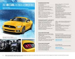 ford 2017 mustang sales brochure