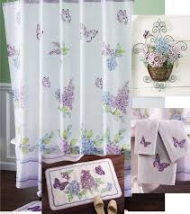 5 Piece Bathroom Rug Set by Bathroom Sets With Shower Curtain And Rugs With Purple Color Ideas