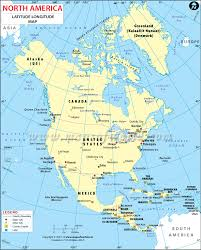 United States Map Major Cities by North America Latitude And Longitude Map