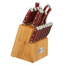 ergo chef u0027s store crimson g10 18 piece cutlery set