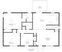 One Level House Plans With Basement Interior Simple Home Floor Plan Regarding Greatest Basement