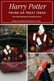 harry potter halloween party harry potter trunk or treat with free printable platform 9 3 4
