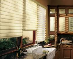 fully lined with floral pattern design kitchen curtain ideas small