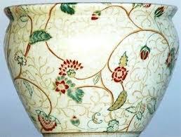 chinese oriental fishbowl planter oriental fish bowl planters