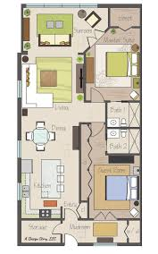 Floor Plan 2 Bedroom Apartment Awesome Small Floor Plan Practically Two Suites And Separated By