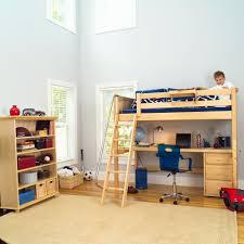 Bunk Beds With Desk Underneath Metal Loft Bunk Bed With Corner - Kids bunk bed with desk