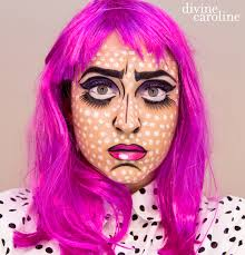 halloween makeup how to pop art comic book more com