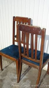 how to paint and cover a set of dining room chairs makeover