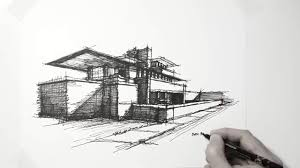 House Architectural Architecture Sketch Lazy Sunday Architectural Frank Lloyd Wright