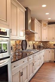 kitchen cream backsplash rustic black kitchen glass tile metal