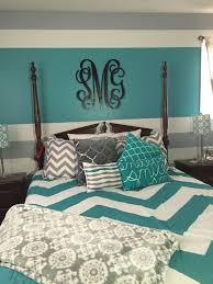 Turquoise Gray And White Teen Bedroom My Daughter Decorated Her - Turquoise paint for bedroom