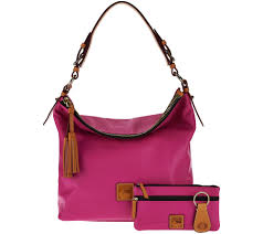 dooney u0026 bourke smooth leather hobo with accessories page 1