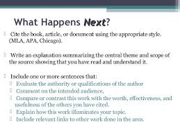 First Year Annotated Bibliography  Guidelines