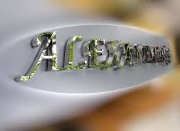 aluminium poli miroir fabrication enseigne lettres boitier inox alexander u0027s coiffure paris 7