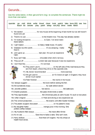 238 free esl gerunds and infinitives worksheets