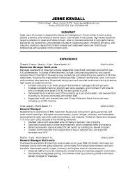 Resume Examples For Food Service by Examples Of Resumes For Restaurant Jobs Restaurant Manager Cover