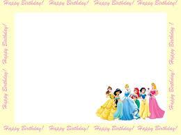 Birthday Invitation Cards Models Princess Birthday Party Invitations Template Themesflip Com