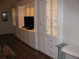 White Entertainment Wall Unit Traditional Family Room Miami - Family room wall units