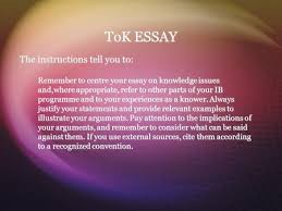 Ib Theory Of Knowledge Essay Examples   Essay