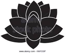 Indian Flower Design Lotus Icon Indian Flower Design Vector Graphic Stock Vector Art