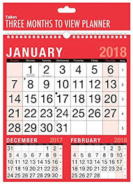amazon black friday games calendar 2018 three month to view spiral bound wall planner calendar home