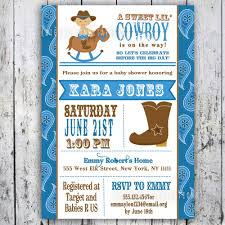 printable baby shower invitations for boys theme cowboy baby shower invitations