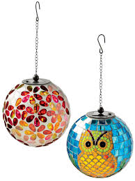 Gazing Ball Fountain Solar Mosaic Hanging Ball Mosaic Glass Gardeners Com