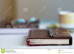 book on desk blurred background stock photo image 56979025